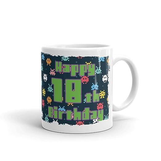 DVMugs Ltd Retro Happy 18 cumpleaños Taza - 18 cumpleaños ...