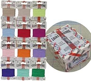 12 Cards Mix Modern Colors Laine St Saint Pierre Sajou Darning Embroidery Floss Wool Polyamide French Thread Cross Stitch Luneville Tambour