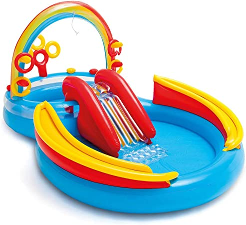 Intex 57453NP Rainbow Ring Play Center - Piscina hinchable (297 x ...