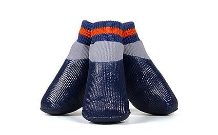 Limiz Calcetines Impermeables para Perros Calcetines Antideslizantes de Algodón para Perros Calcetines Deportivos de Otoño e