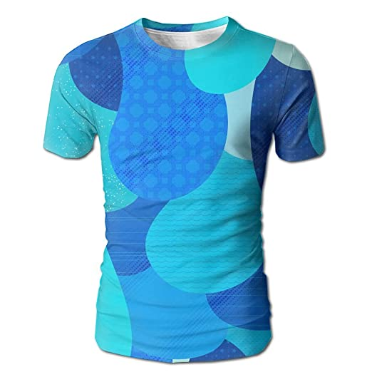 37a7e56d64f7 Blue Water Drops Unisex 3D Print Casual Short Sleeve T-Shirt Stylish Design  Mens Tee