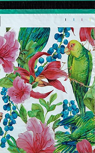 10x13 (200) Pink Tropical Flowers Parrot Designer Poly Mailers Shipping Envelopes Boutique Custom Bags By ValueMailers (10