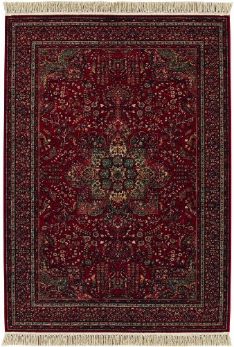 Couristan Kashimar All Over Center Medallion Rug, 6-Feet 6-Inch by 10-Feet 1-Inch, Antique Red