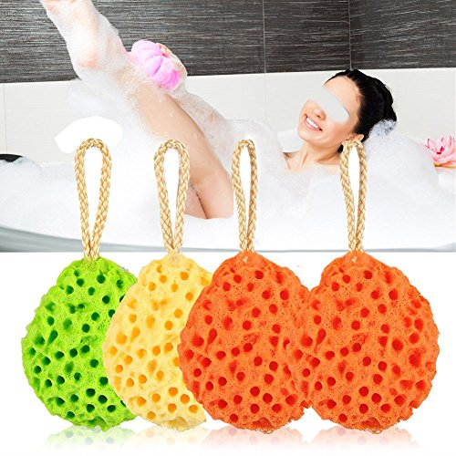 Exfoliating Soft Sponge Bath Ball, 8 pcs Organic Skin Car...