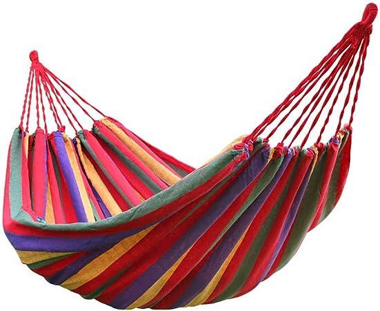 QJJML hamacas Colgantes, Hamaca para Acampar jardín 200 × 150 cm, Hamaca portátil - Ideal para Acampar y Relajarse al Aire Libre o en el jardín y Viajar - Carga máxima 150 kg,Red: Amazon.es: Hogar