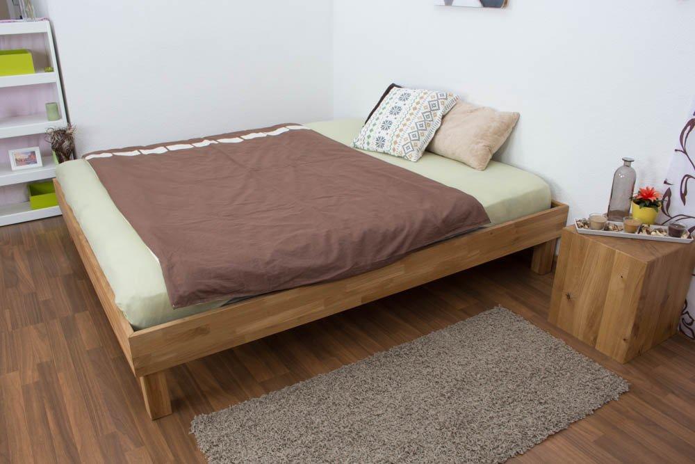 Cama de madera 180 x 200 cm Roble maciza barnizada): Amazon.es: Bricolaje y herramientas