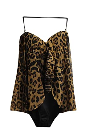 2650709eb89 Image Unavailable. Image not available for. Color  Lauren Ralph Lauren Plus  Size Leopard-Print Fly-Away One Piece Swimsuit ...