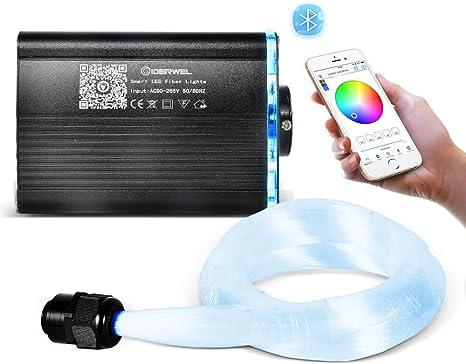 18W Car LED Ceiling Light Fiber Optic Star Kit RGBW LED Light /& 300X Fiber Cable