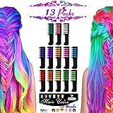 Best Hair Chalks - 13 Colors Temporary Hair Chalk Set Byhoo Glitter Review