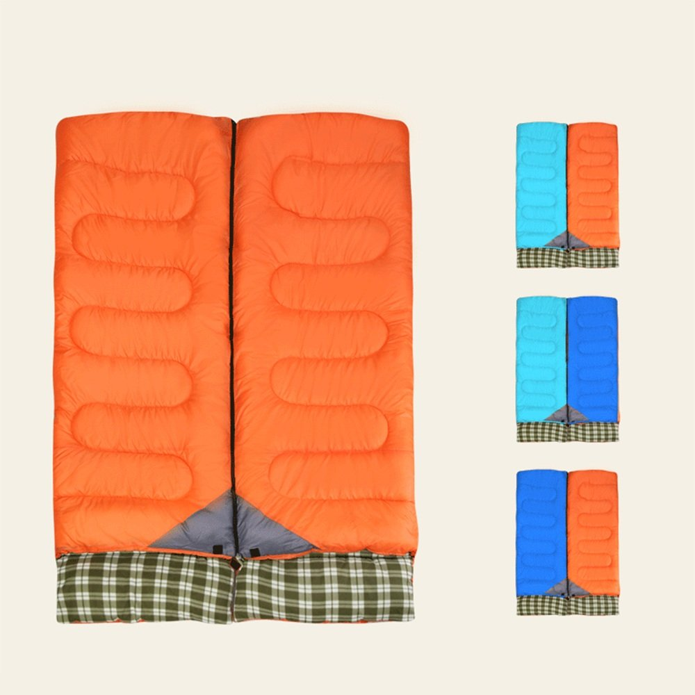 ZXQZ Saco de Dormir en Sobres/Splicable/Waterproof/Camping Hiking Saco de Dormir Rectangular en algodón con Sacos de compresión (190 + 30) * 80cm Saco de ...