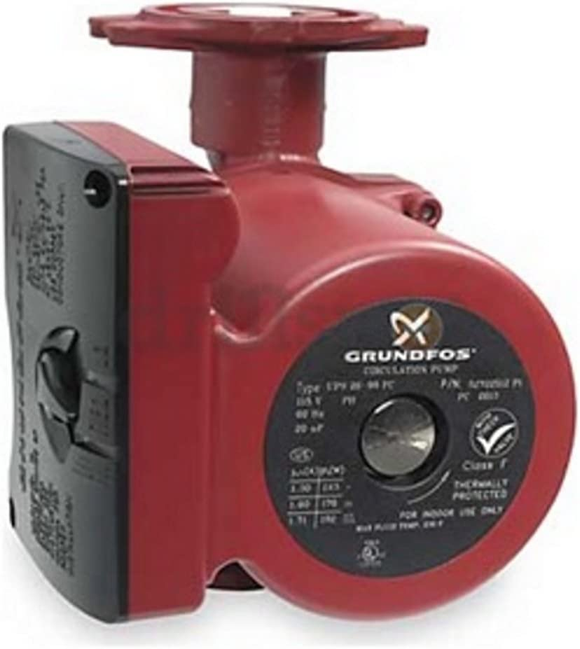 Grundfos 52722512 3-Speed 1/6 Horsepower Circulator Pump with Flow Check ASIN: B002YR4AVW View on Amazon, Red