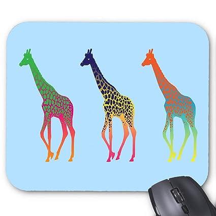 7dade476416f6 Amazon.com : Giraffes Colorful Animals Mouse Pad 11.8