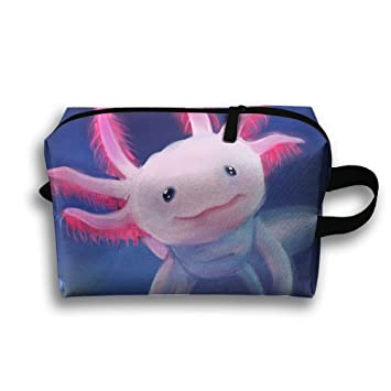 9443215c9516 Amazon.com : AZNM Mexico Axolotl Travel Large Makeup Bag Train Case ...