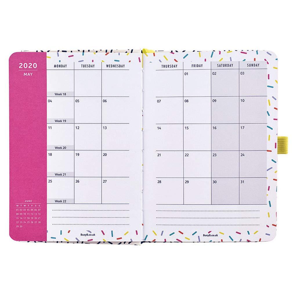Agenda To Do Busy B - agenda semanla A6 blanco/rosa con notas y bolsillos