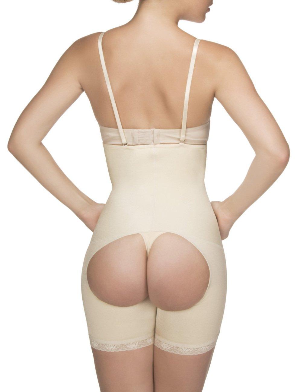 6e6cb6e1536 Amazon.com: Vedette 504 Isabelle Strapless Mid Thigh Body w/ Buttock  Enhancer 2XS 30 Black: Health & Personal Care