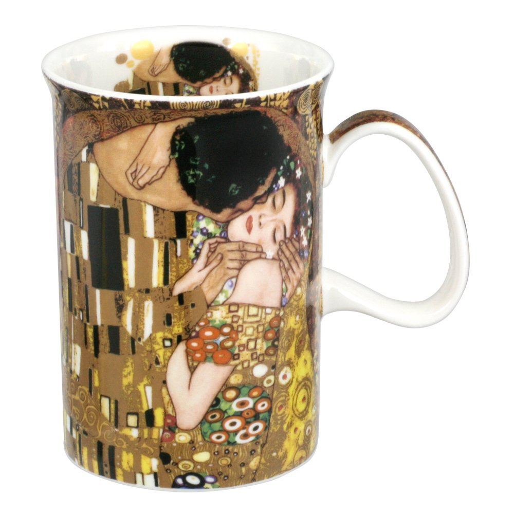 CARMANI - Classic mug decorated with Gustav Klimt 'The Kiss' 350ml