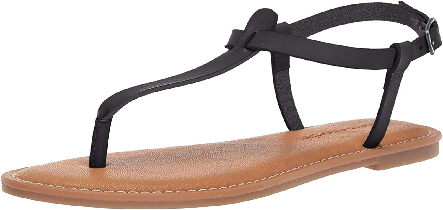 Spano Womens Casual Thong with Ankle Strap Sandal Sandal Donna Essentials