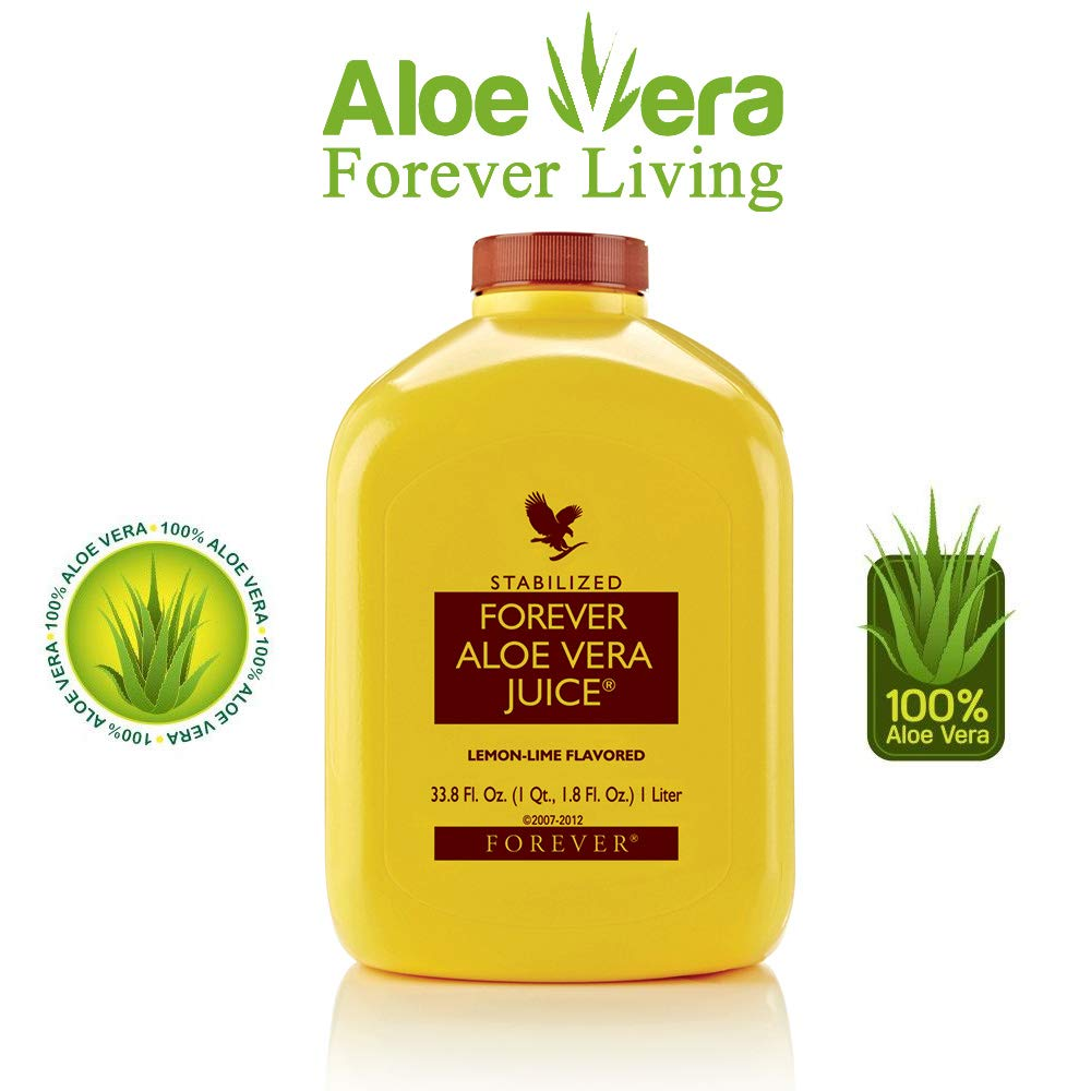 Forever Living Aloe Vera Juice 33.8 Oz., lemon-lime flavored