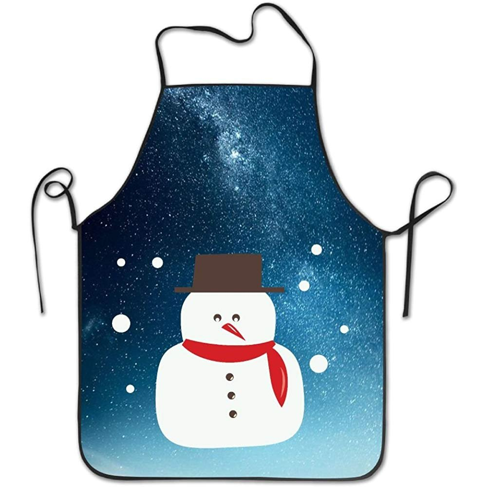 starobosエプロンクリスマス雪だるま防水耐久性Personalizedエプロンキッチンエプロン料理Bakingエプロンよだれかけエプロン防水性と耐久性Personalizedエプロンユニセックスレディースメンズ大人シェフ   B07F7GQ8F1
