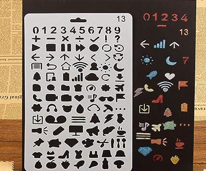 Amazon.com 1pc Numbers Internet Emoji Plastic Home