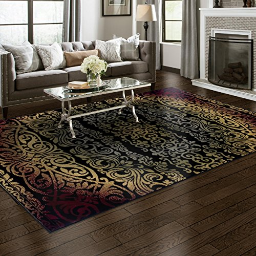 Superior Sheffield Collection Area Rug, 8mm Pile Height with Jute Backing, Woven Fashionable and Affordable – 4 x 6 , Multi-Color