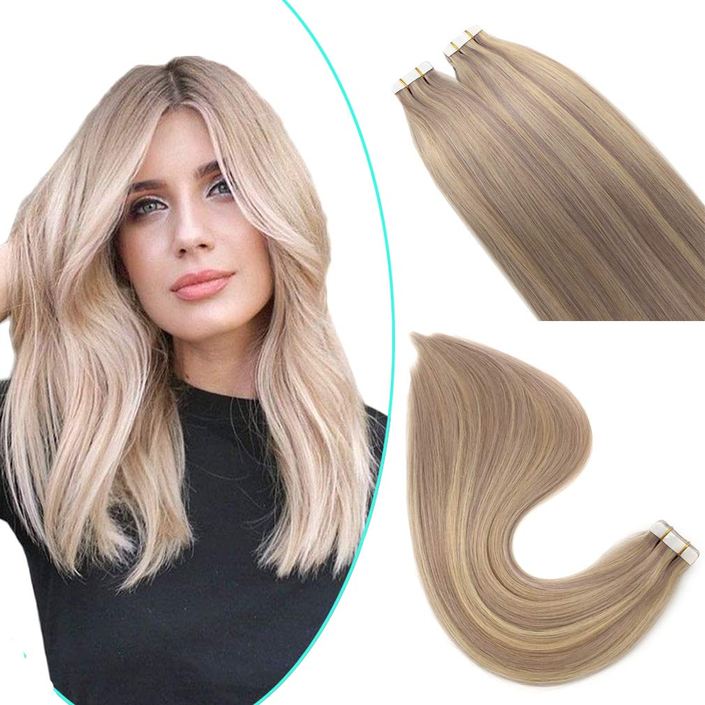 Oceane 22inch Tape in Hair Extensions #18 Phoenix Mall Highlights Human Sale Special Price