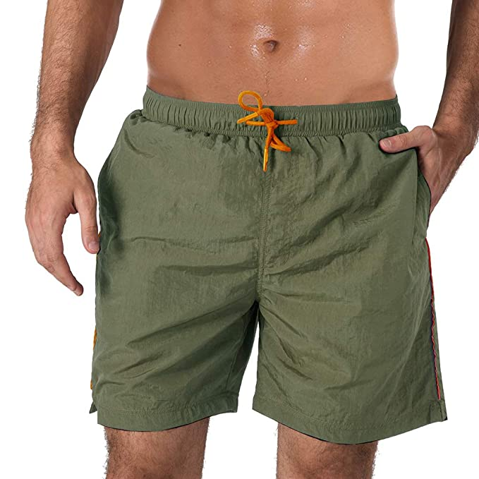 4546d5233c MAGNIVIT Men's Quick Dry Running Shorts Gym Workout Shorts with Pockets  Army Green
