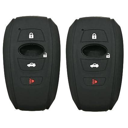 2Pcs Coolbestda Rubber Smart Key Fob Skin Jacket Protector Case Cover Holder  for 2016 2017 Subaru e1f56e0ae5