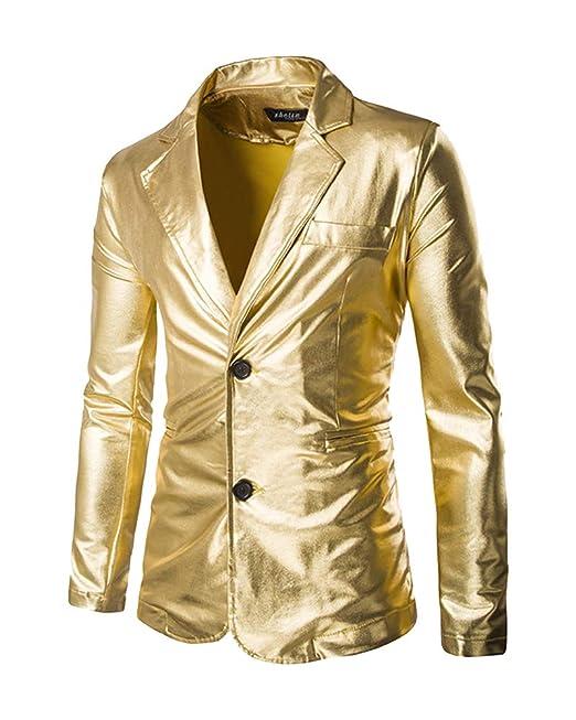 Mengmiao Hombre Chaqueta de Traje Lentejuelas Casual Slim Fit Blazer: Amazon.es: Ropa y accesorios