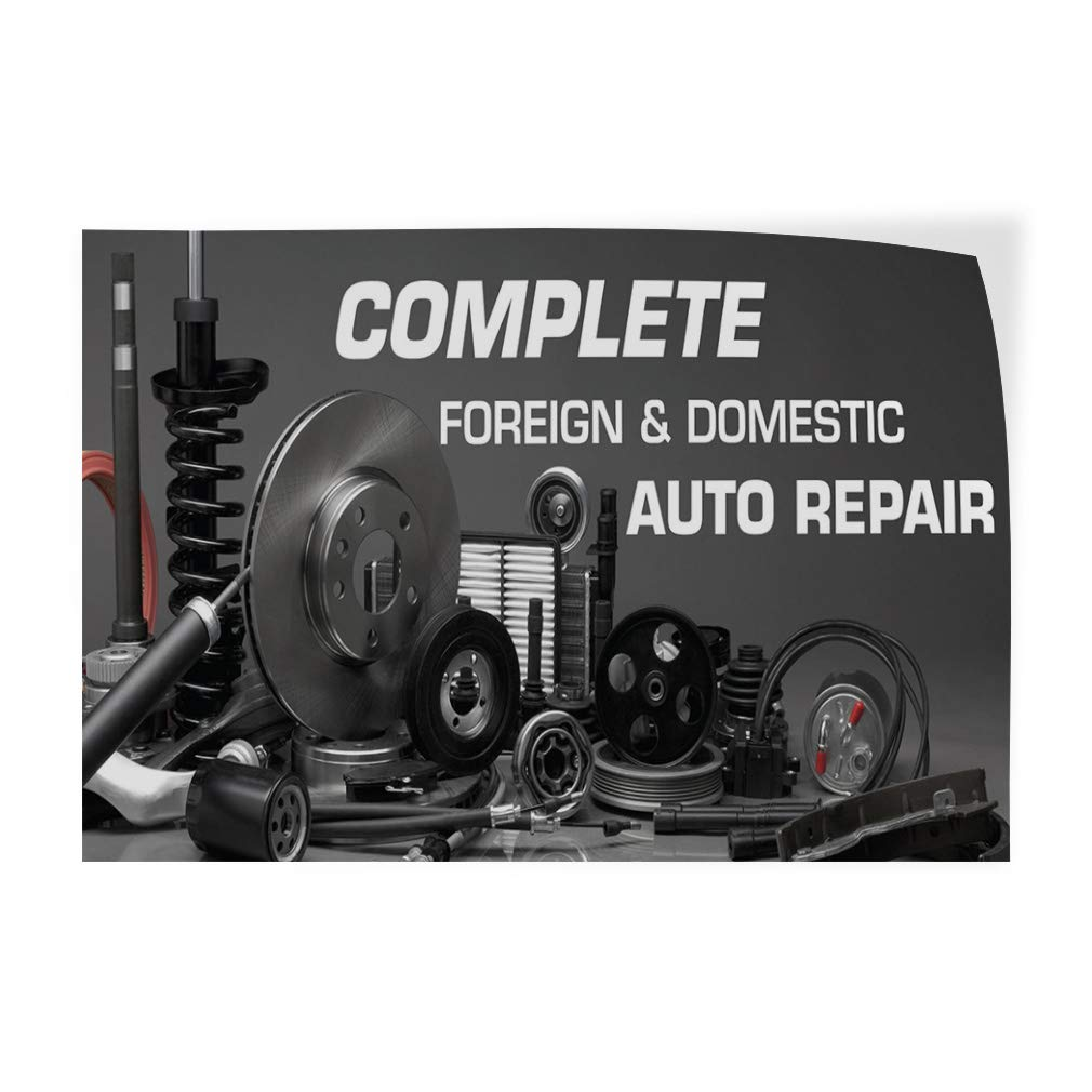 Decal Sticker Multiple Sizes Complete Foreign /& Domestic Auto Repair Auto Car Vehicle Style U Automotive Outdoor Store Sign Grey 72inx48in,