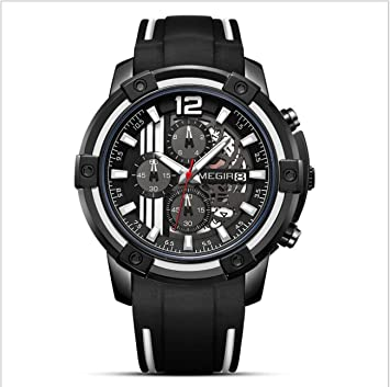 Megir Reloj para Hombre Relojes Deportivos Hombres Impermeable cronógrafo Dropshipping Hombres Marca de Lujo Hombre Reloj