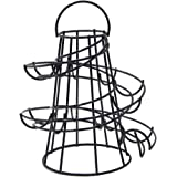 Yontree Egg Run Spiral Eggs Holder with Handle BLACK