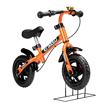 Enkeeo Balance Bike No Pedal with Bell and Hand Brake, Carbon Steel ...