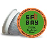 SF Bay Coffee Organic Rainforest Blend 36 Ct Medium Roast Compostable Coffee Pods, K Cup Compatible including Keurig 2.0