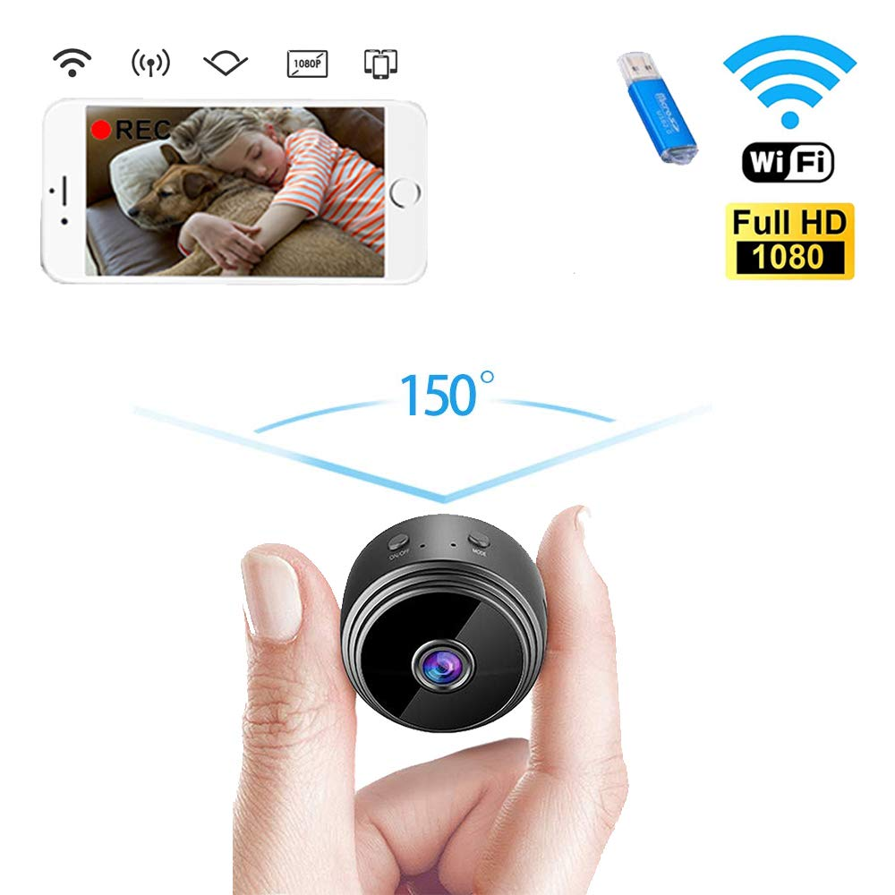 IVSUN Hidden Camera Mini Spy Camera WiFi Wireless HD 1080P Small Portable Security Camera Indoor Video Recorder Night Vision Motion Activated Covert Nanny Cam for Cars Home Apartment by IVSUN