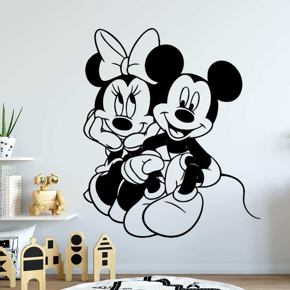 Mickey Minnie Mouse Arte de la pared Sticker Decal Cartoon Mickey ...