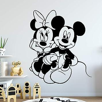 Kinderzimmer-Dekoration Wandaufkleber Minnie und Micky Maus