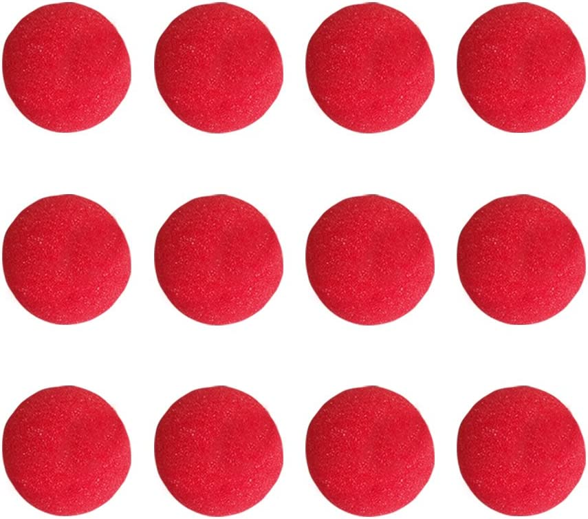 25Pcs Red Foam Funny Clown Nose Circus Party Halloween Costume bo