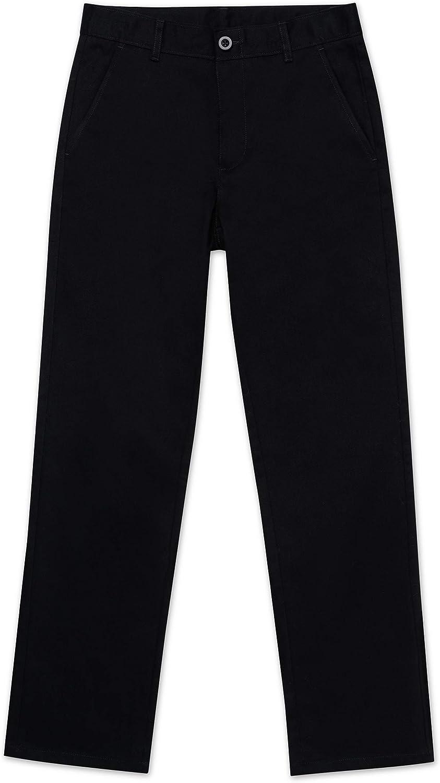 Nautica Boys' School Uniform Flat Front Twill Pant