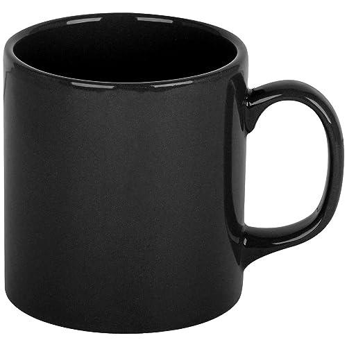 Promobo - Mug Tasse A Café Platine Design City Noir 10cm