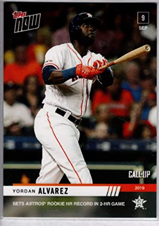 Yordan Alvarez 2019 Topps Now #351 Call-Up 2,241 Made Rookie Card PGI 10