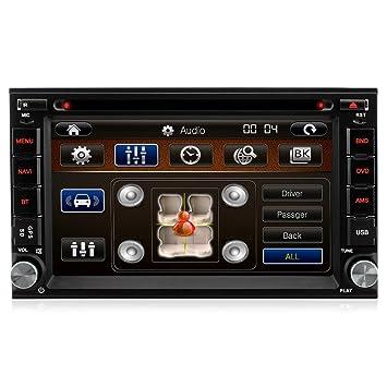 A de Sure Doble 2 DIN GPS Auto Radio CD DVD Navegación Bluetooth USB MP3 SD