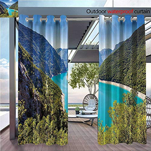 (DESPKON Facial Blend Fabric high Density The Piva Cany with Reservoir. Mtenegro Balkans Europe. Sunlights Mountai Shading for Outdoor W108 x L72 INCH)