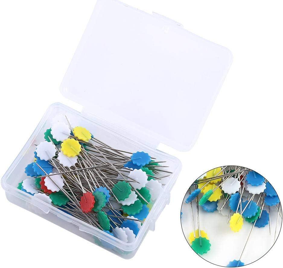 100/Unidades Fdit Flor Patchwork Pins DIY Costura Recto Agujas para almazuela Herramientas para Costura Decorar Crafting Marcar