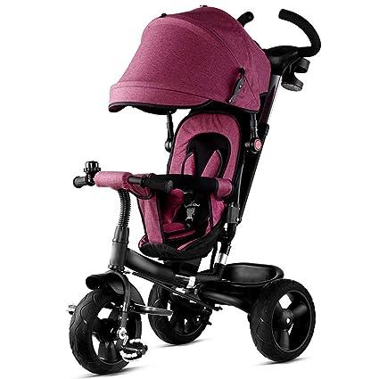 Jian E E-Carro Plegable de los niños Empuje a Mano Triciclo ...