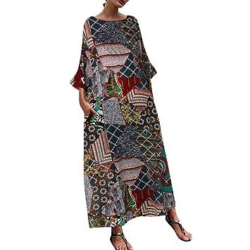 Vestidos Largos Verano Mujer,Wave166 Casual Vestido De Verano Largo ...