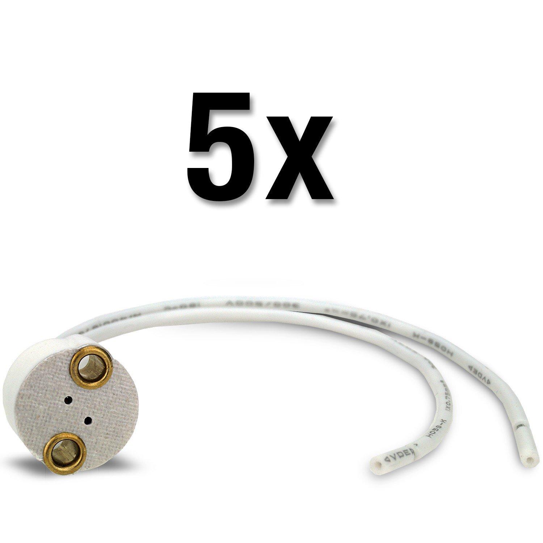 MAILUX sod13763Douille G4–Socle pour LED et Halogène–Céramique–15cm câble (1pièce)