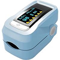 Oxymètre de pouls Doigt, sang saturation en oxygène SpO2Sensor moniteur de fréquence cardiaque avec écran OLED (Sac de transport, Landyard et piles inclus)
