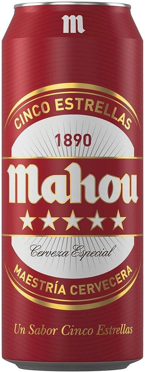 Mahou 5 Estrellas Cerveza Dorada Lager, 5.5% de Volumen de Alcohol - Lata de 50 cl: Amazon.es: Alimentación y bebidas