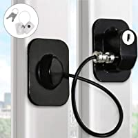 Refrigerator Lock Kids Door Security Lock with 2 Keys, Freezer Lock and Child Safety Cabinet Lock with Durable 3M Glue…